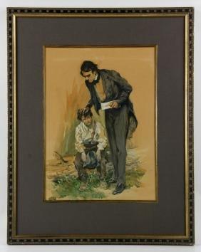 Keller, Portrait of Abraham Lincoln, Gouache