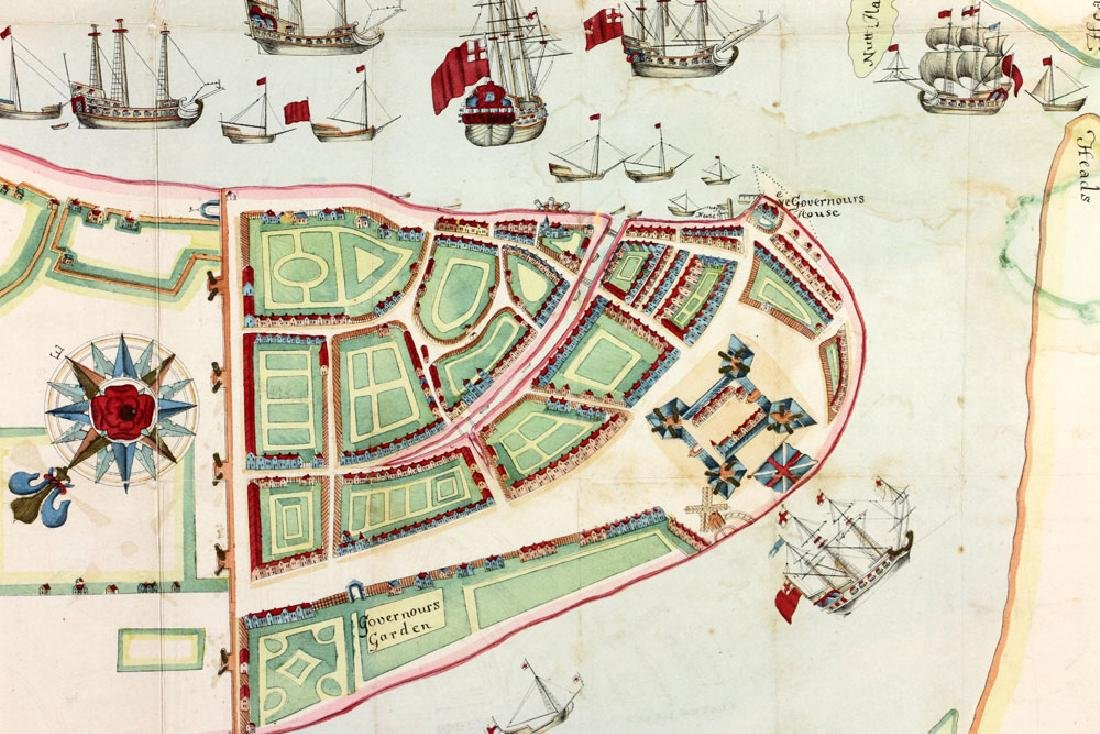 1654 Long Island, New York, Hand Colored Map - 5
