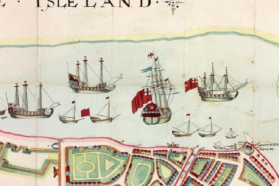 1654 Long Island, New York, Hand Colored Map - 7