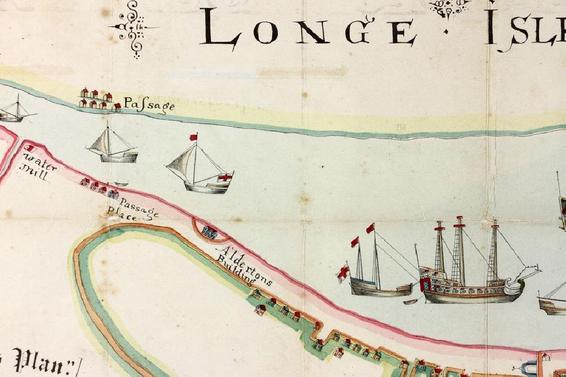 1654 Long Island, New York, Hand Colored Map - 8