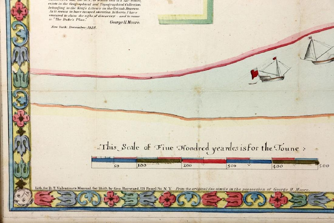 1654 Long Island, New York, Hand Colored Map - 9