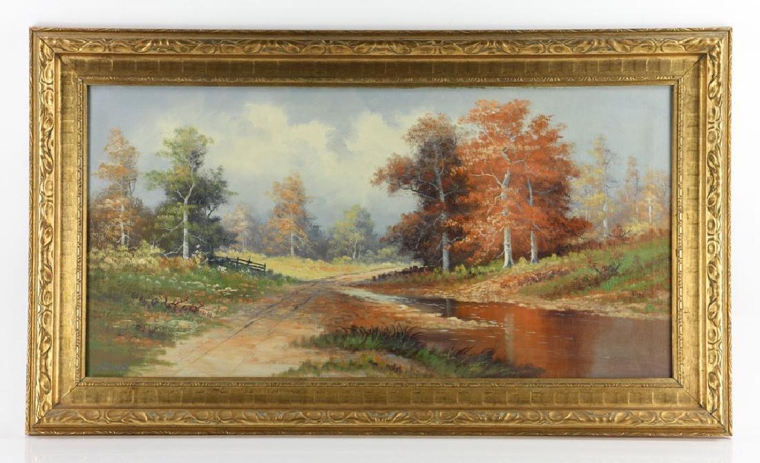 Philbrick, Autumn Landscape, Oil on Canvas