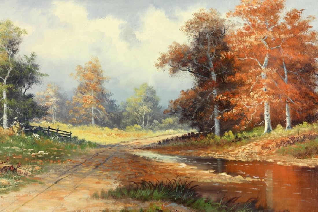 Philbrick, Autumn Landscape, Oil on Canvas - 3