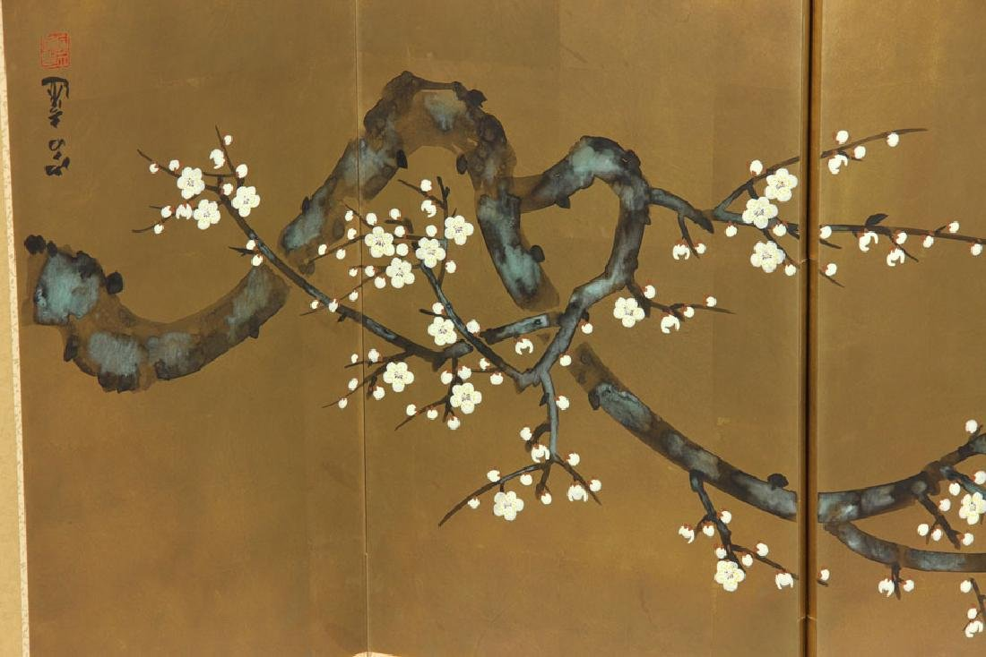 2 Japanese Hand Painted Wall Screens - 10