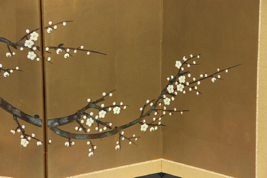 2 Japanese Hand Painted Wall Screens - 9