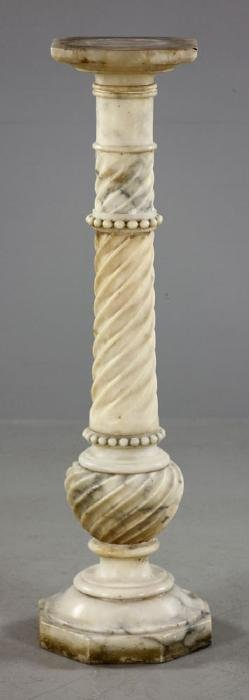 Italian Carved Marble Pedestal