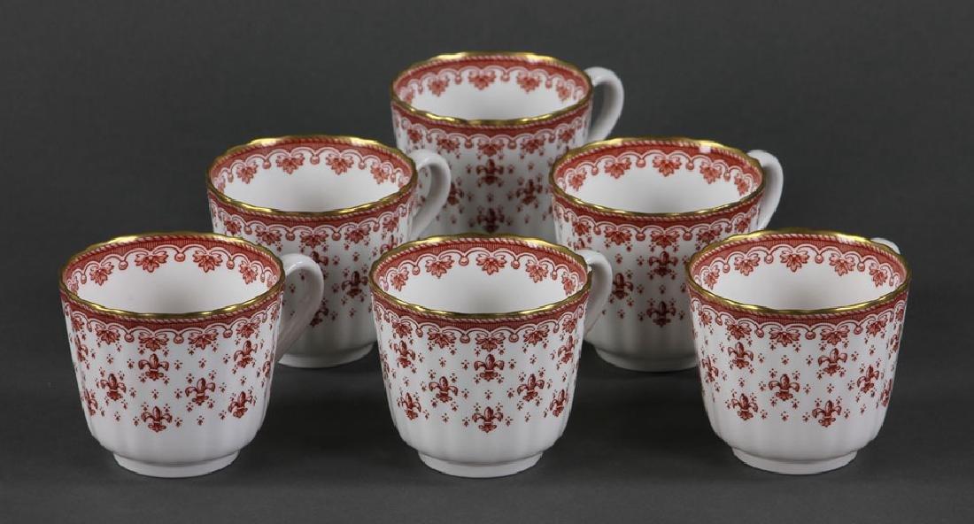 """Spode """"Fleur de Lys"""" Porcelain Service for 6 - 4"""