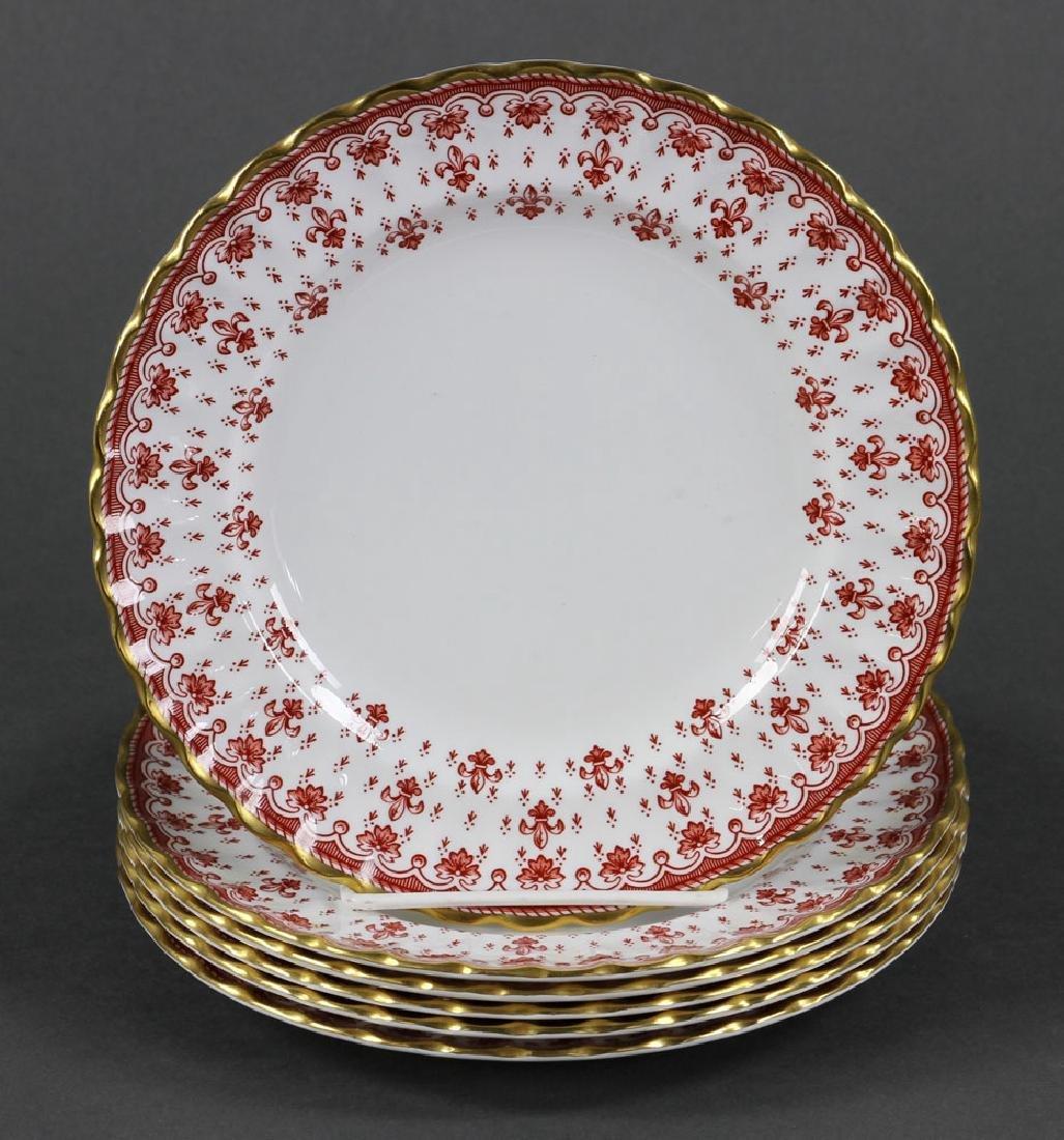 """Spode """"Fleur de Lys"""" Porcelain Service for 6 - 9"""