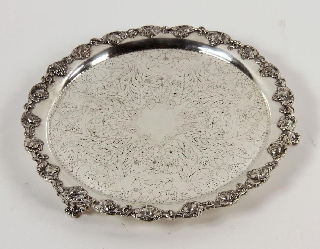 3 Silver Plate Serving Trays - 2