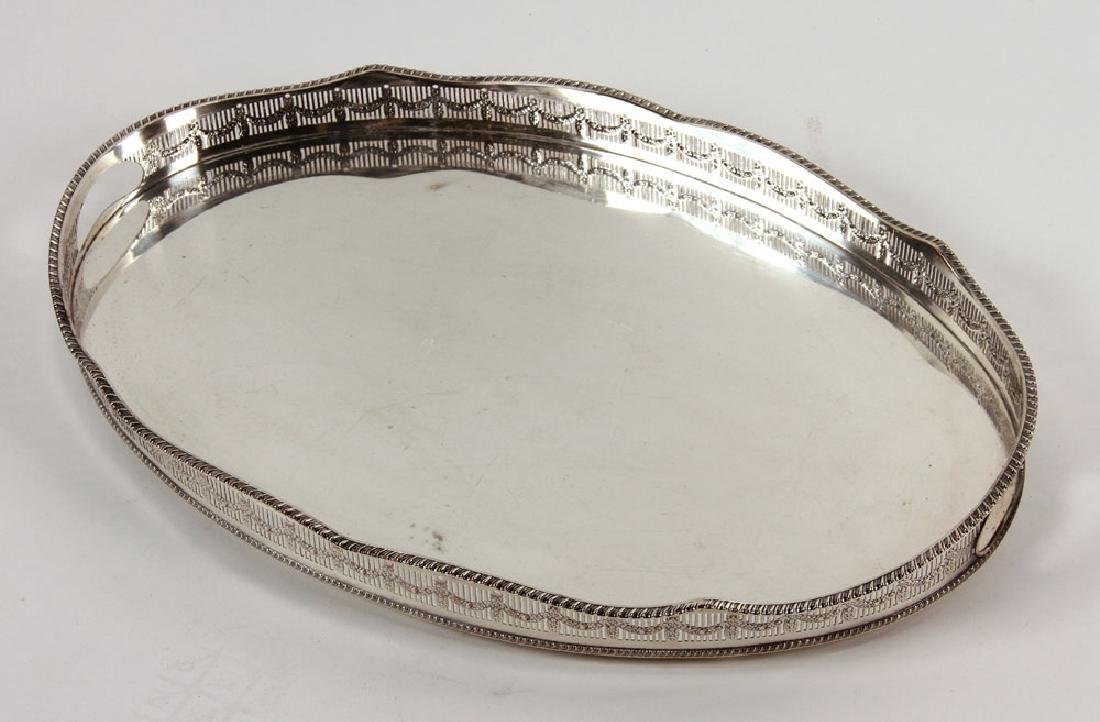 3 Silver Plate Serving Trays - 3