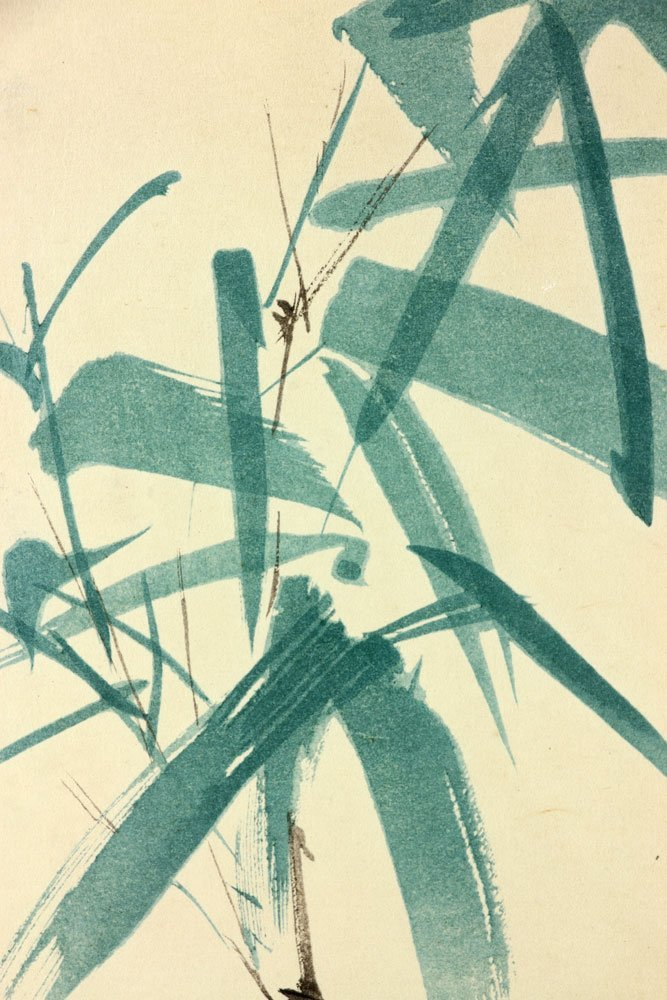2 Japanese Watercolor Botanical Paintings - 8