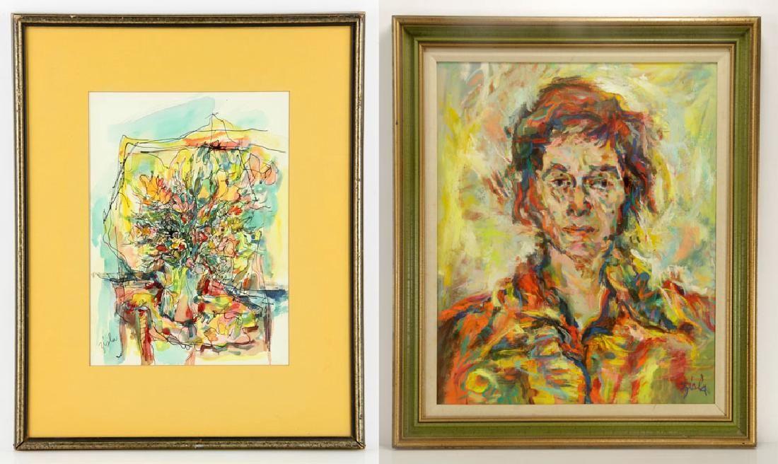 Zisla, Lot of 2 Paintings