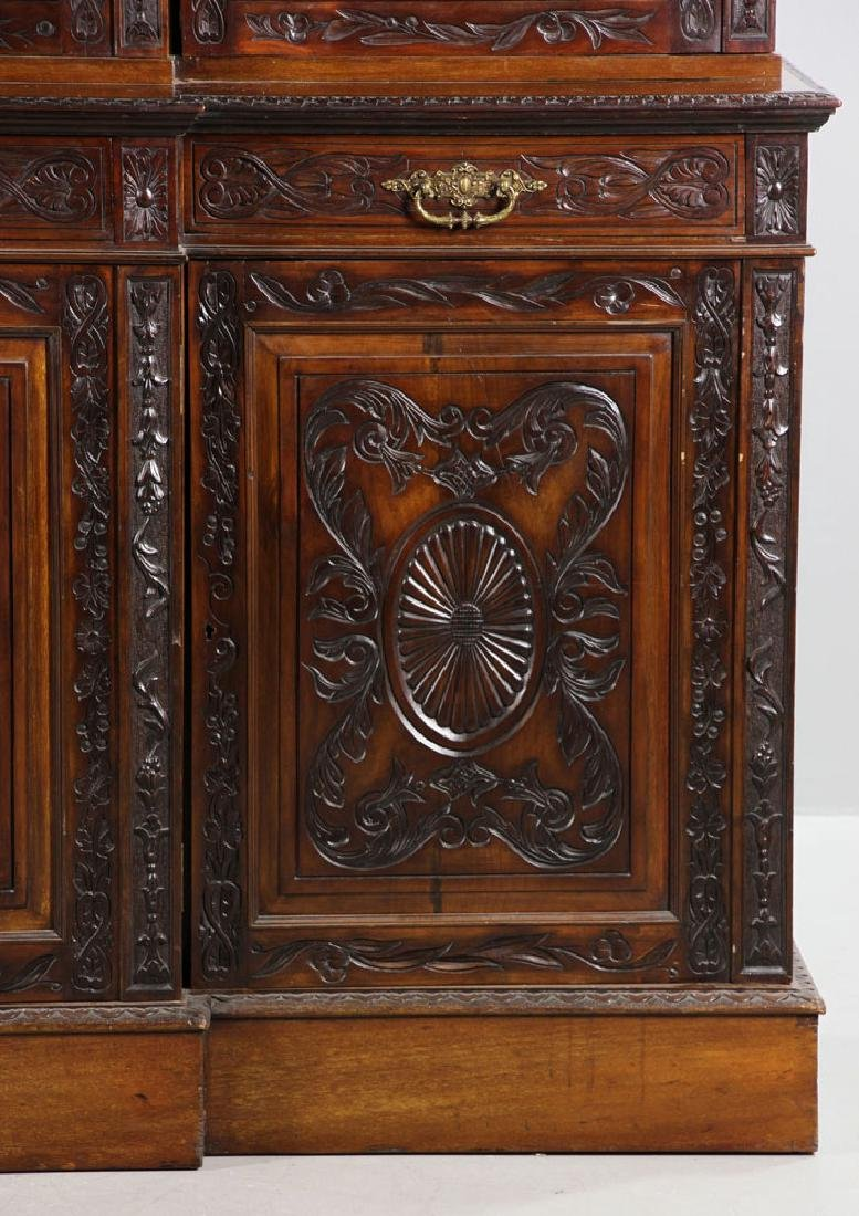 19th C. English Chippendale Style Mahogany Breakfront - 3