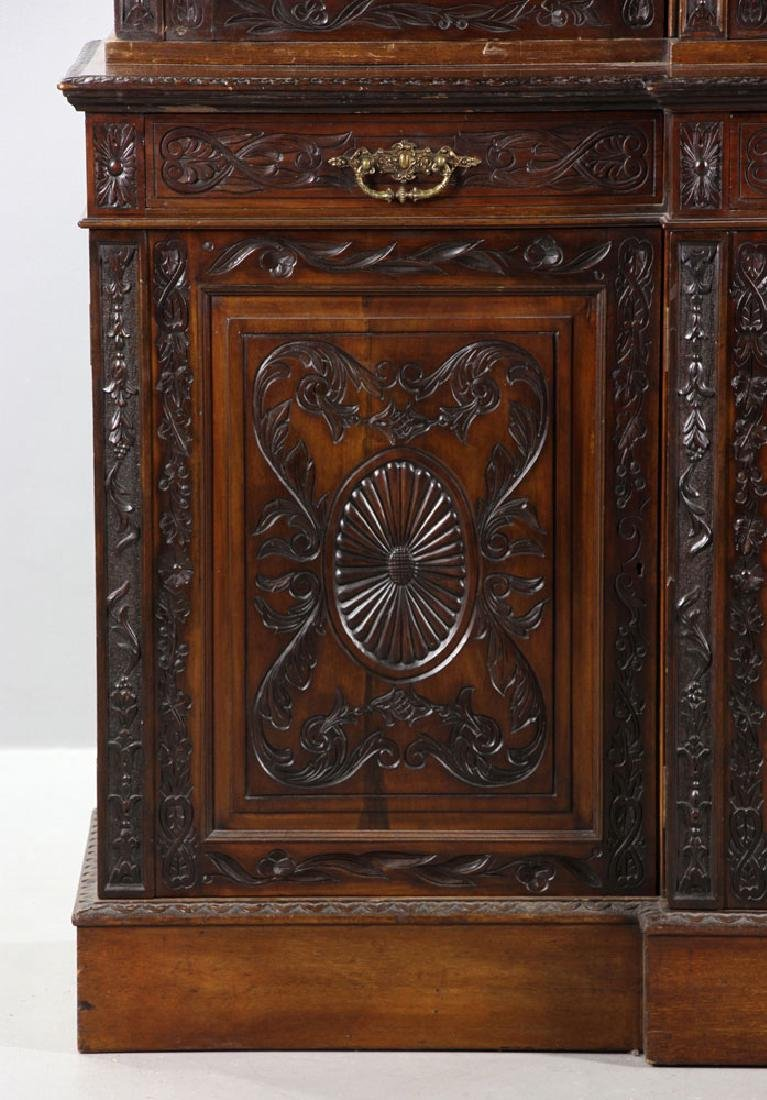 19th C. English Chippendale Style Mahogany Breakfront - 4