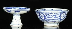 2 Chinese Blue and White Porcelain Items