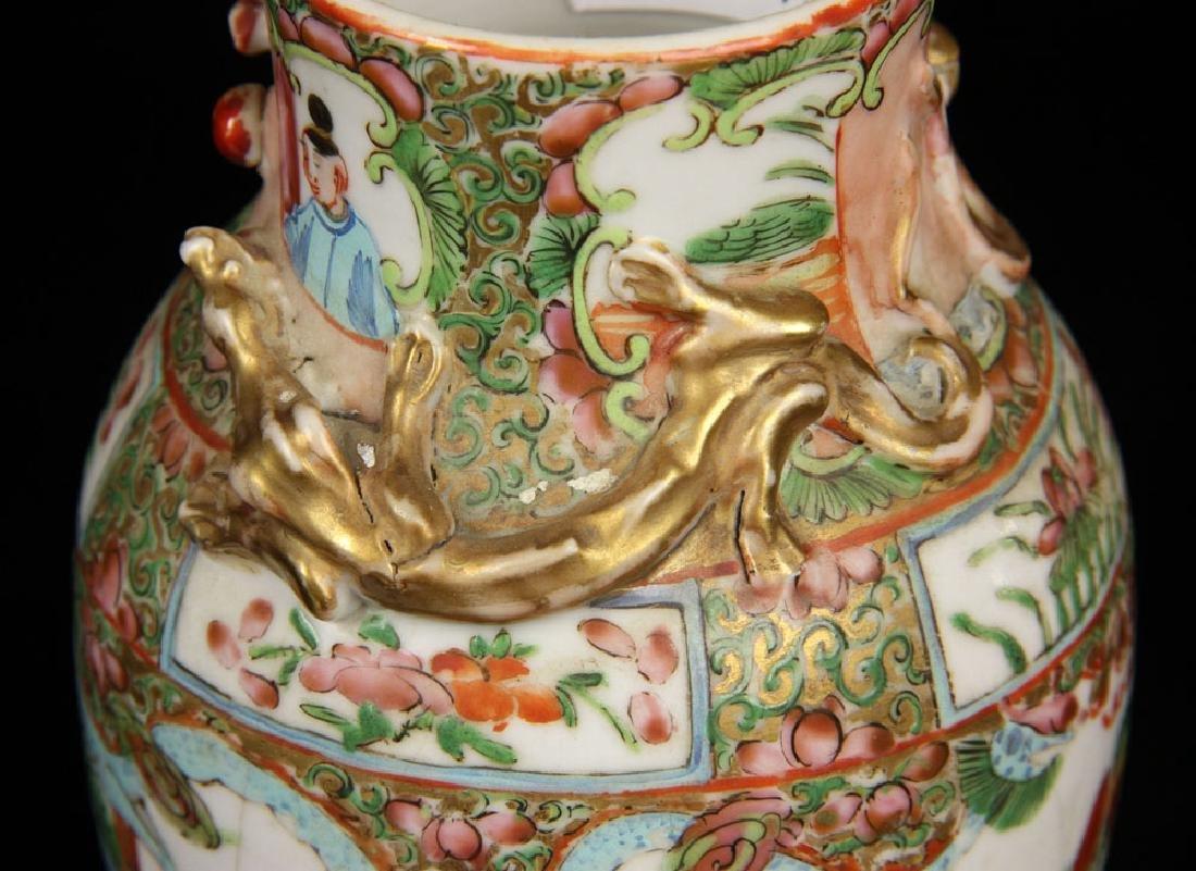 Pr. 19th C. Chinese Rose Mandarin Vases - 3