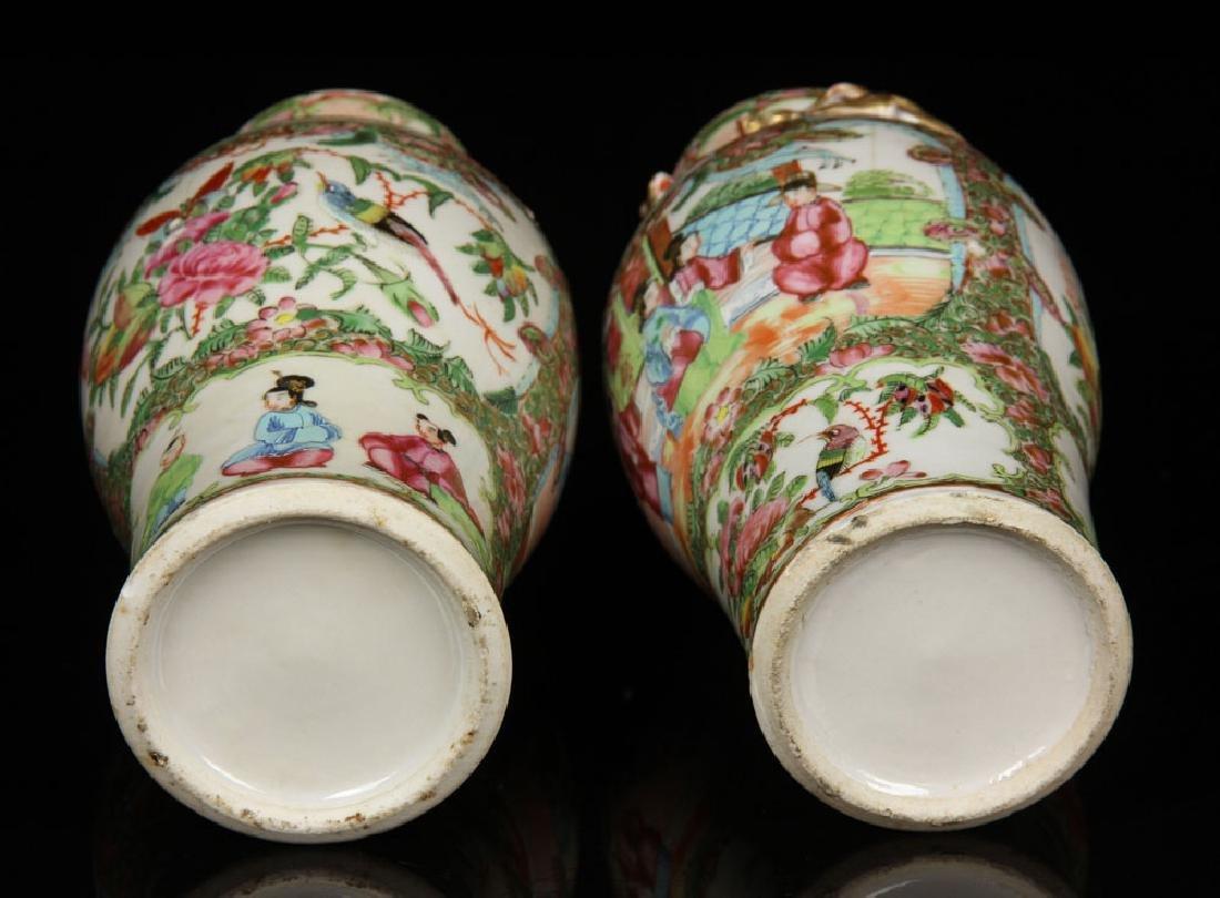 Pr. 19th C. Chinese Rose Mandarin Vases - 4