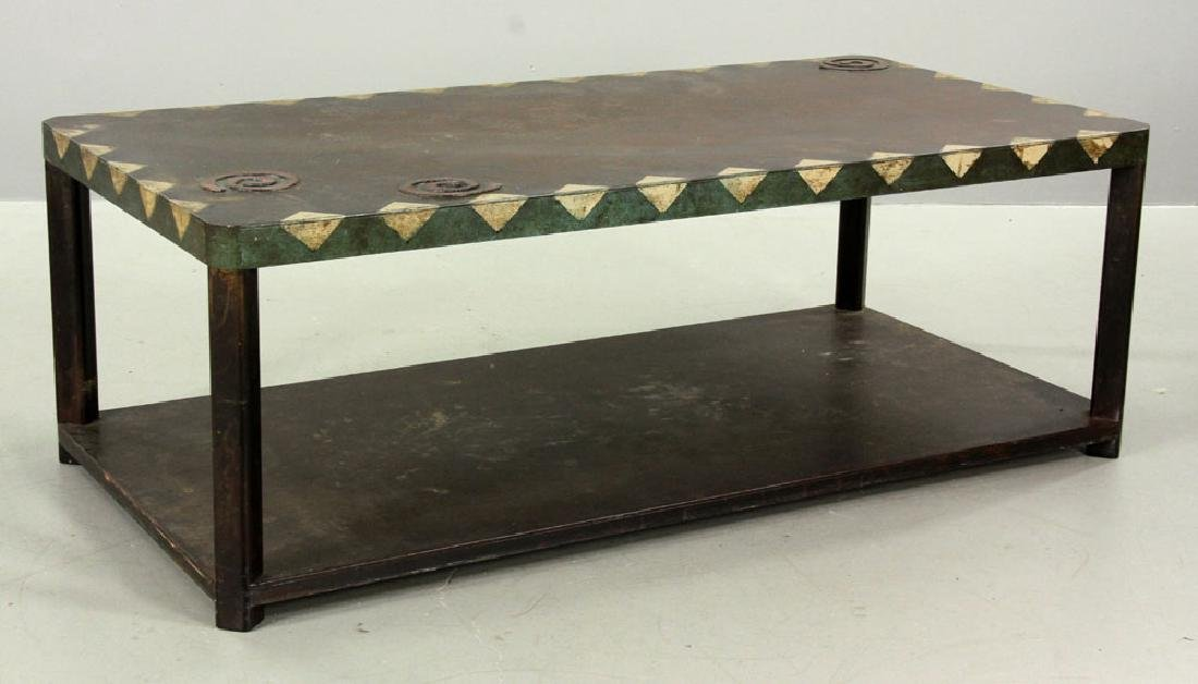 Mid Century Modern Bronze Coffee Table