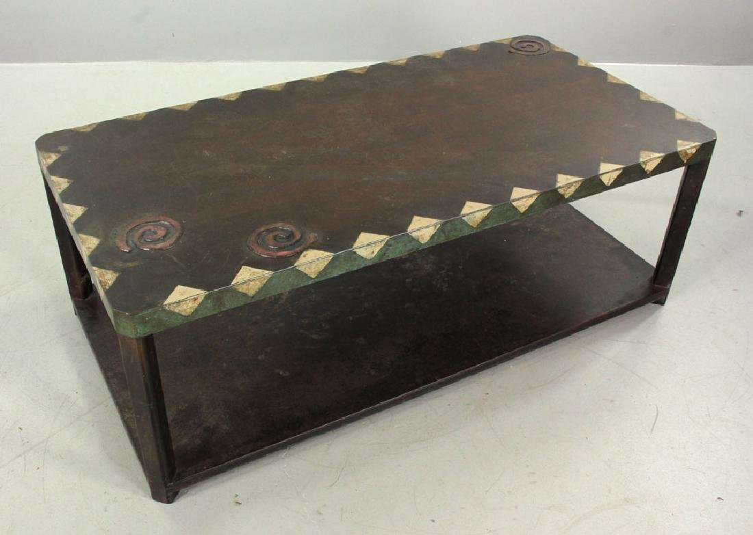 Mid Century Modern Bronze Coffee Table - 2