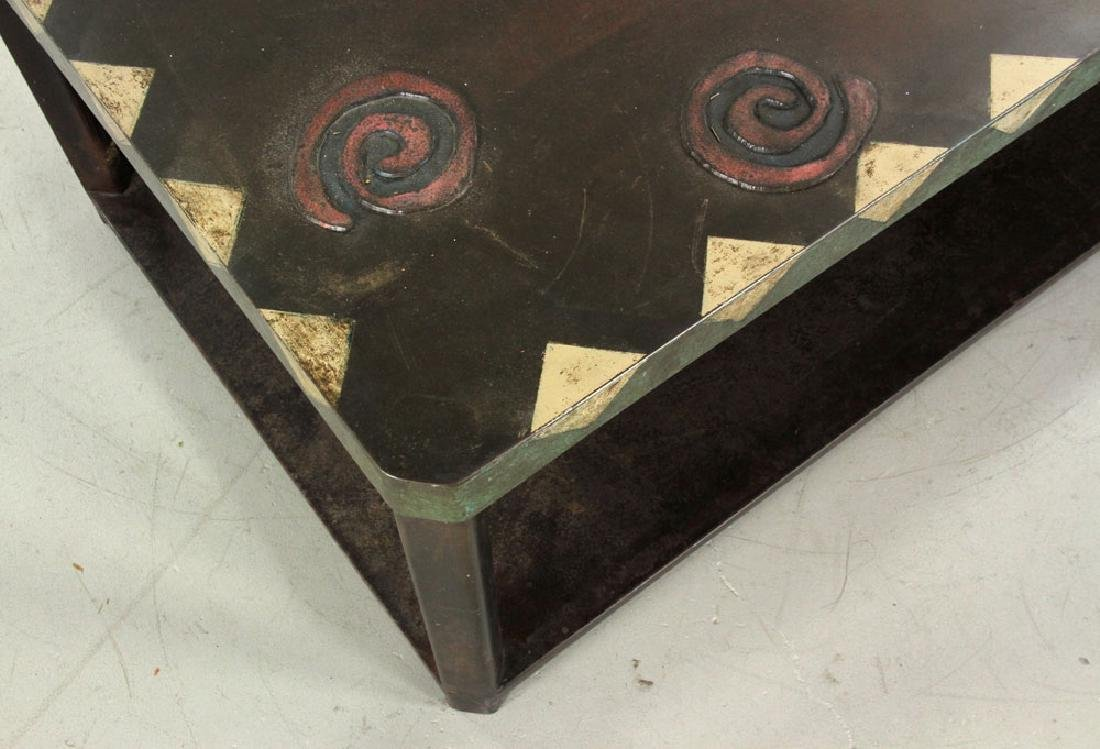 Mid Century Modern Bronze Coffee Table - 3