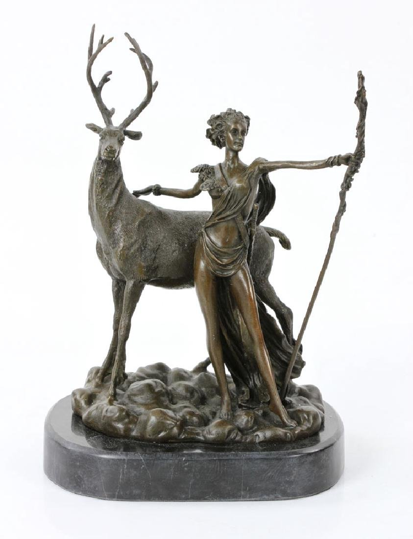 Rancoulet, Diana and Stag, Bronze