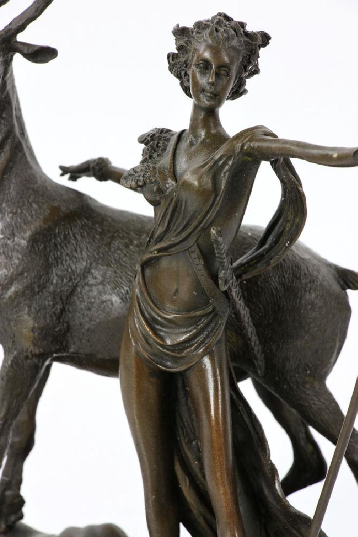 Rancoulet, Diana and Stag, Bronze - 6