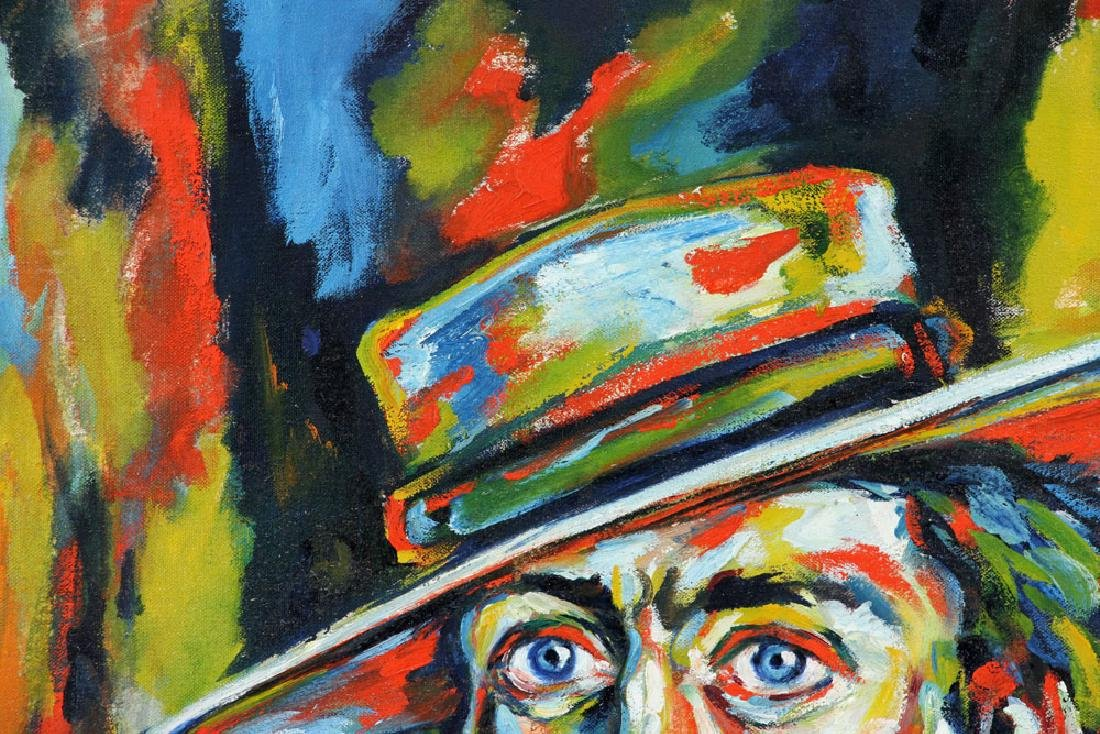 Wennstrom, Man with Hat, Oil on Canvas - 6