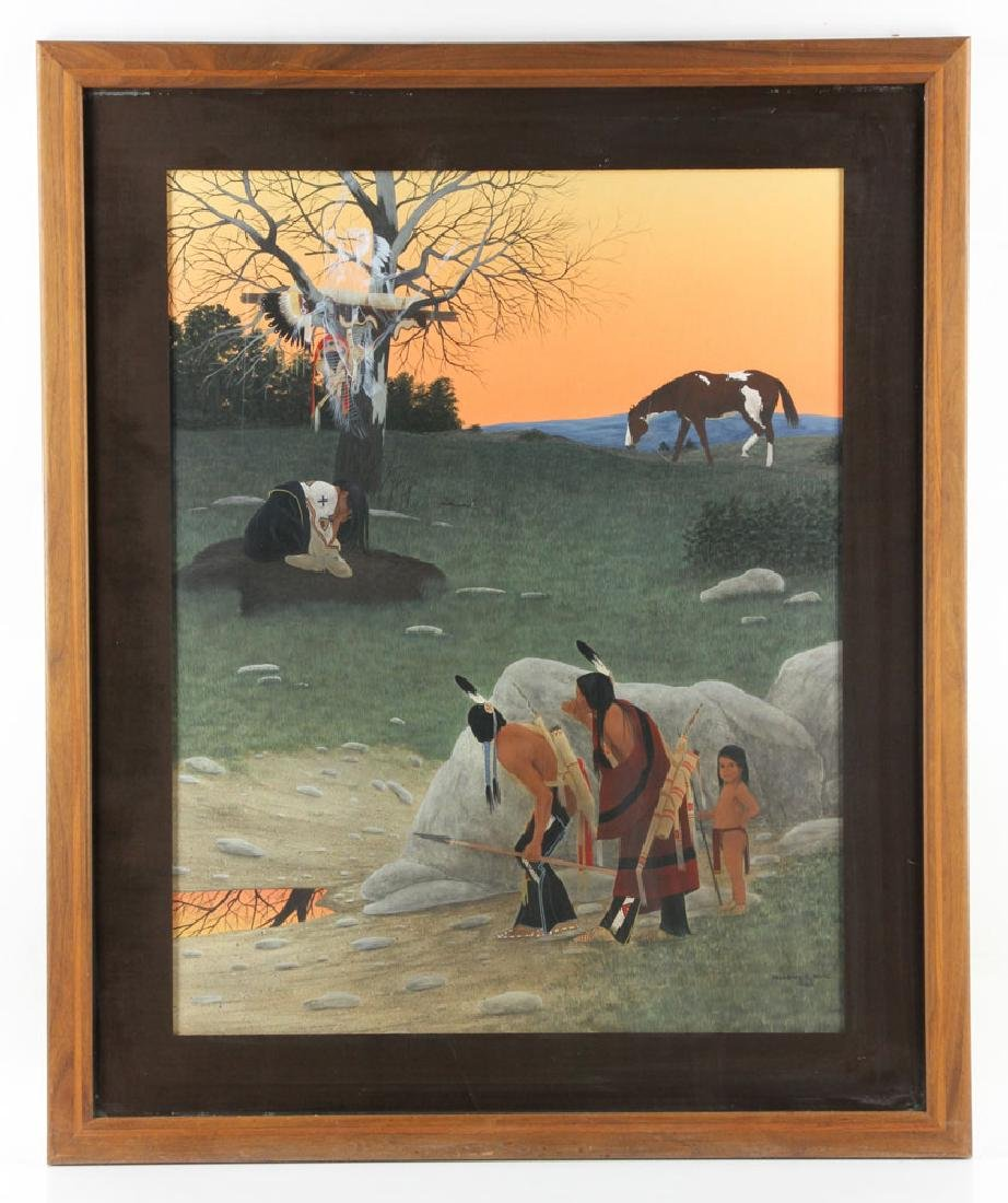 Roye, Native American Encampment, Watercolor