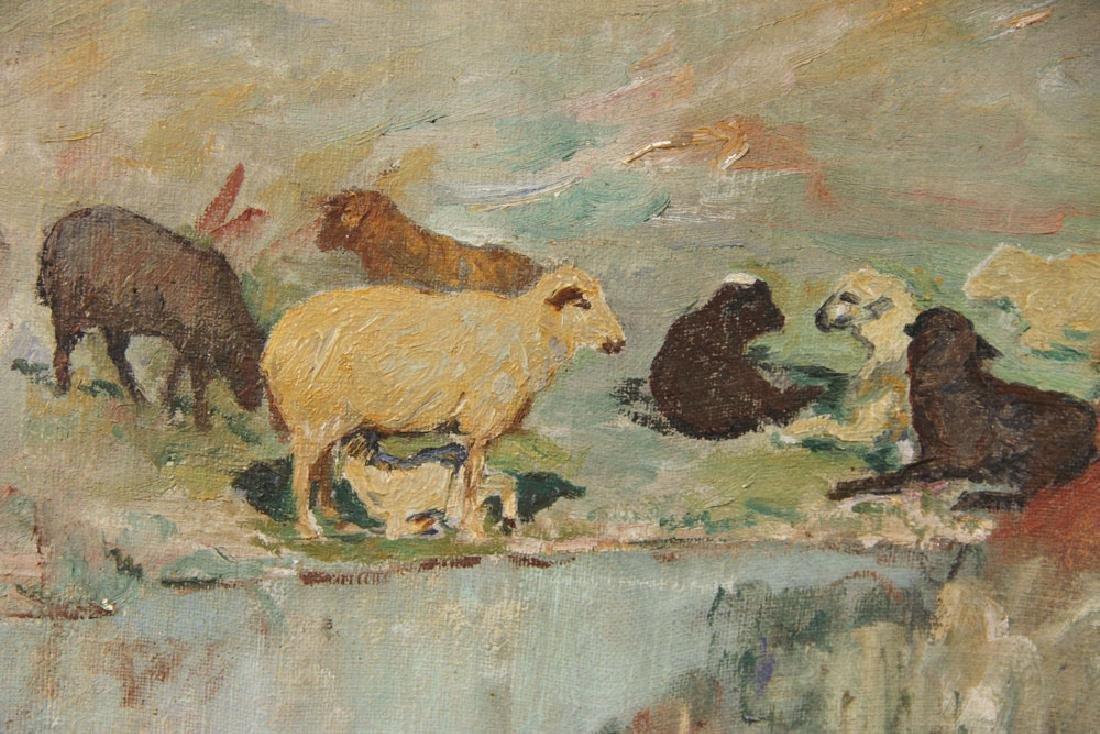 """Nikolov, """"The Shepherdess,"""" Oil on Canvas - 4"""
