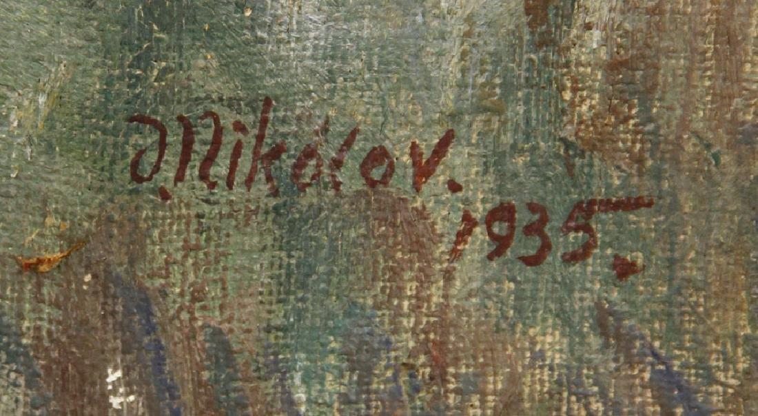 """Nikolov, """"The Shepherdess,"""" Oil on Canvas - 5"""