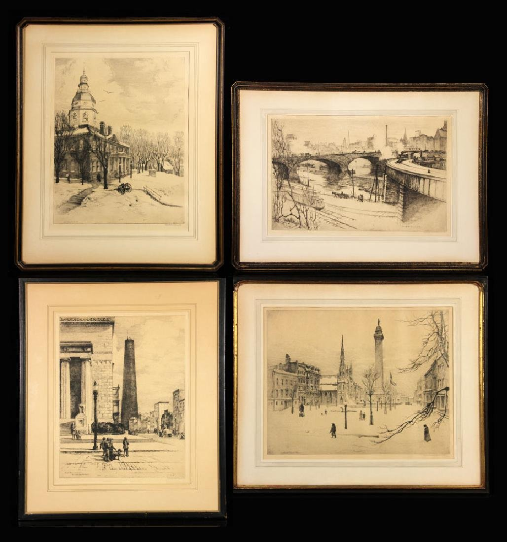 Clements, Lot of 4 Etchings
