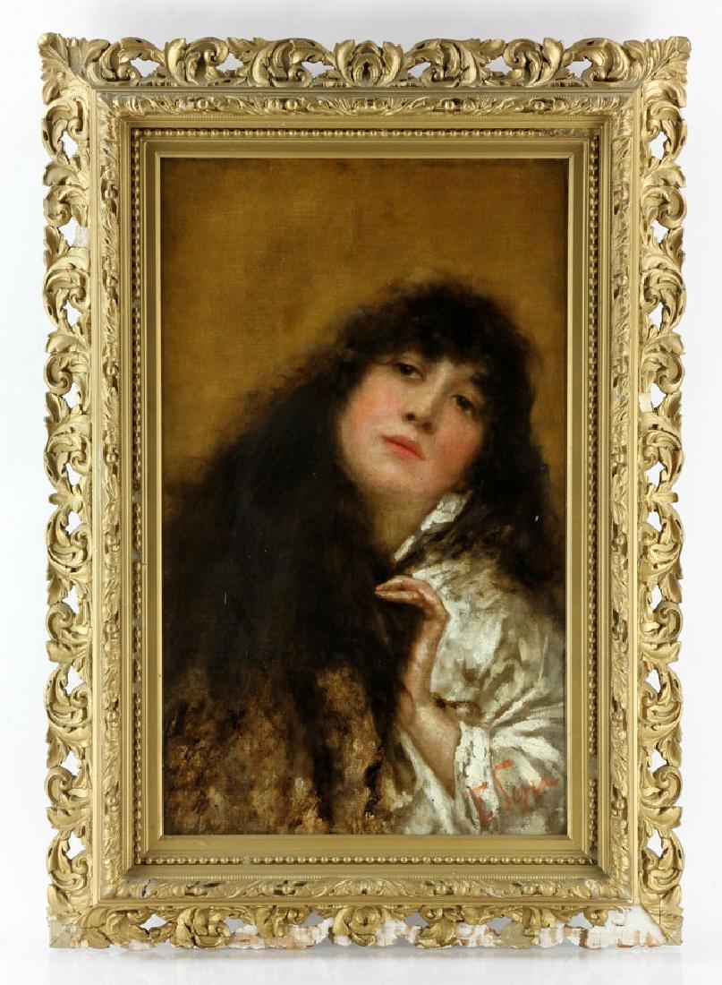 Serra, Portrait of a Woman, Oil on Canvas