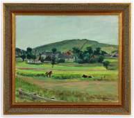 Larsson, Farm Scene, Oil on Canvas