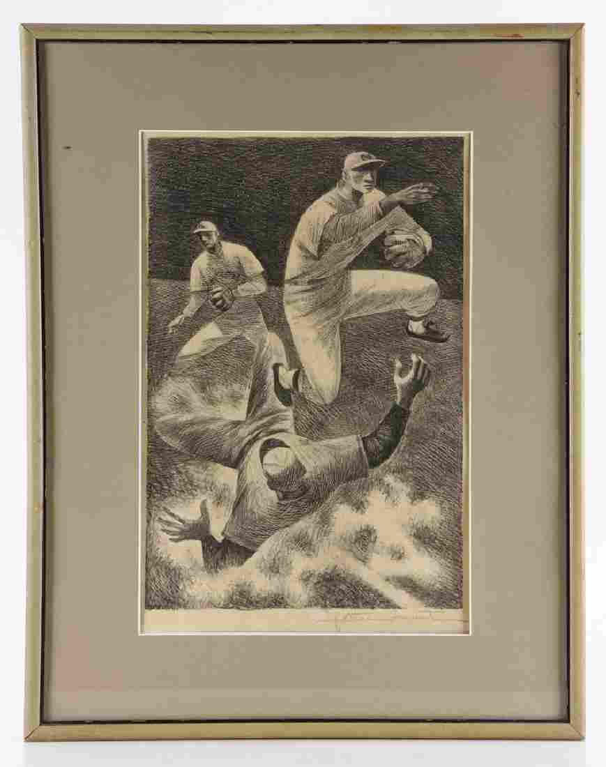 """Martin, """"Double Play,"""" Lithograph"""