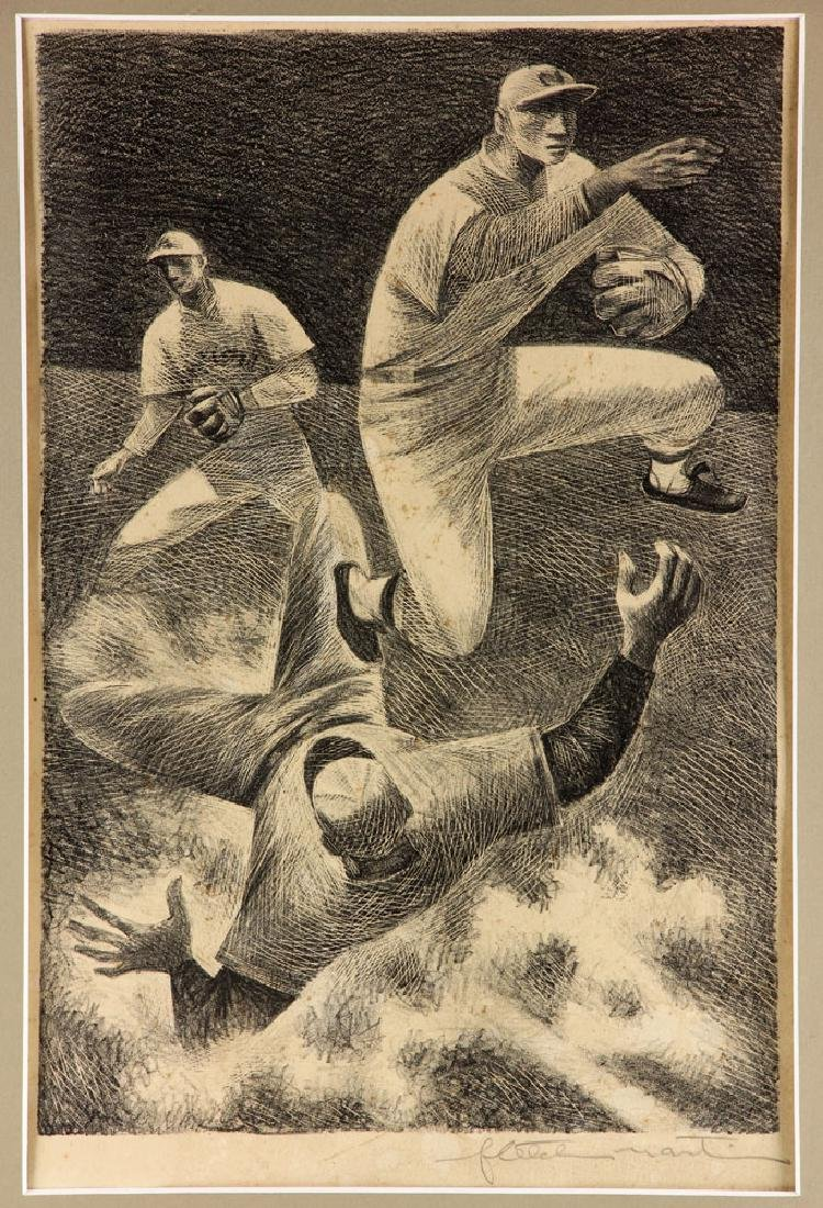 "Martin, ""Double Play,"" Lithograph - 2"