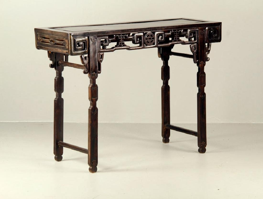 19th C. Chinese Rosewood Altar Table - 2