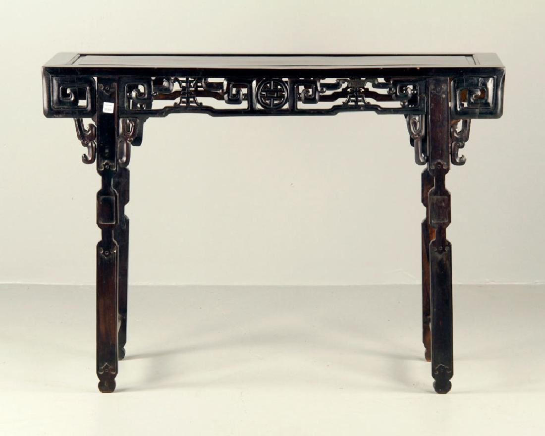 19th C. Chinese Rosewood Altar Table - 3