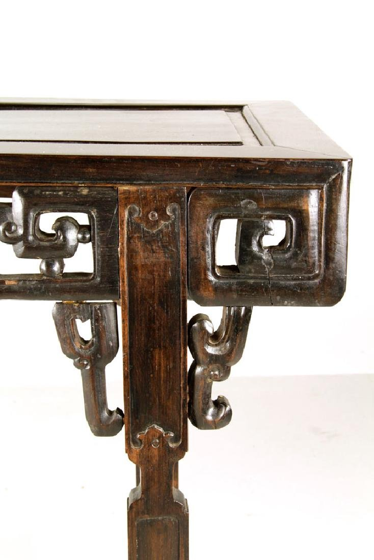 19th C. Chinese Rosewood Altar Table - 4