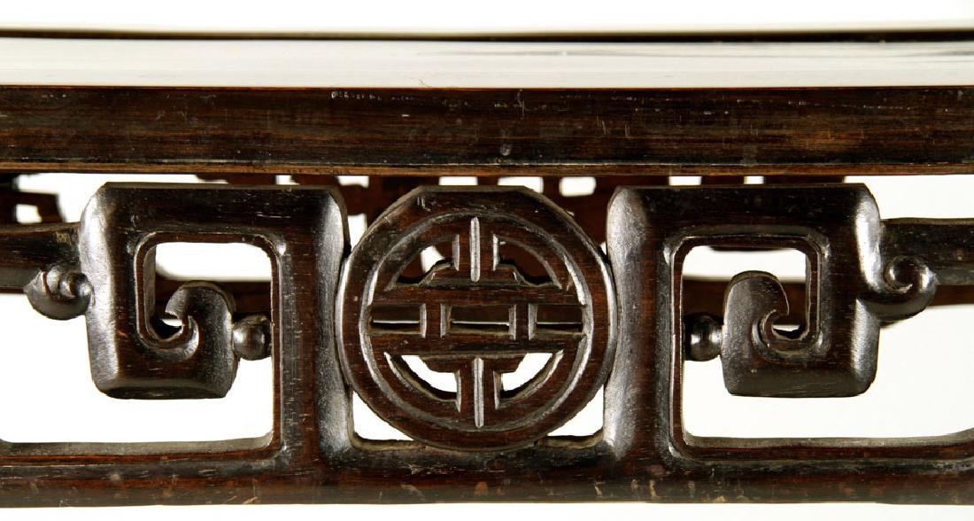 19th C. Chinese Rosewood Altar Table - 6