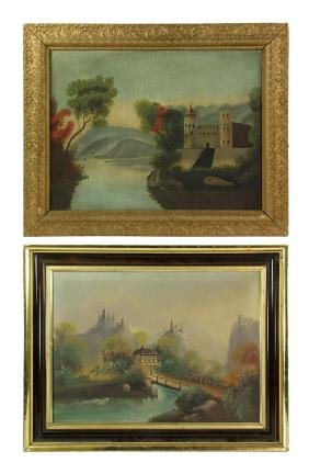 Two 19th C. Primitive Paintings