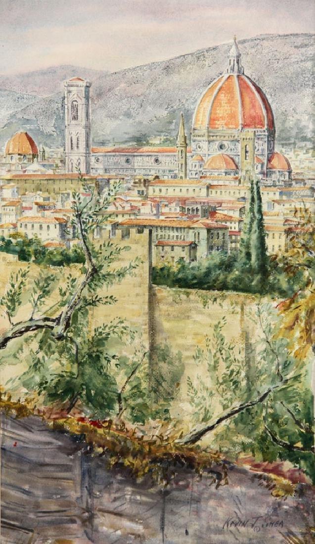 Shea, View of Il Duomo, Watercolor - 2