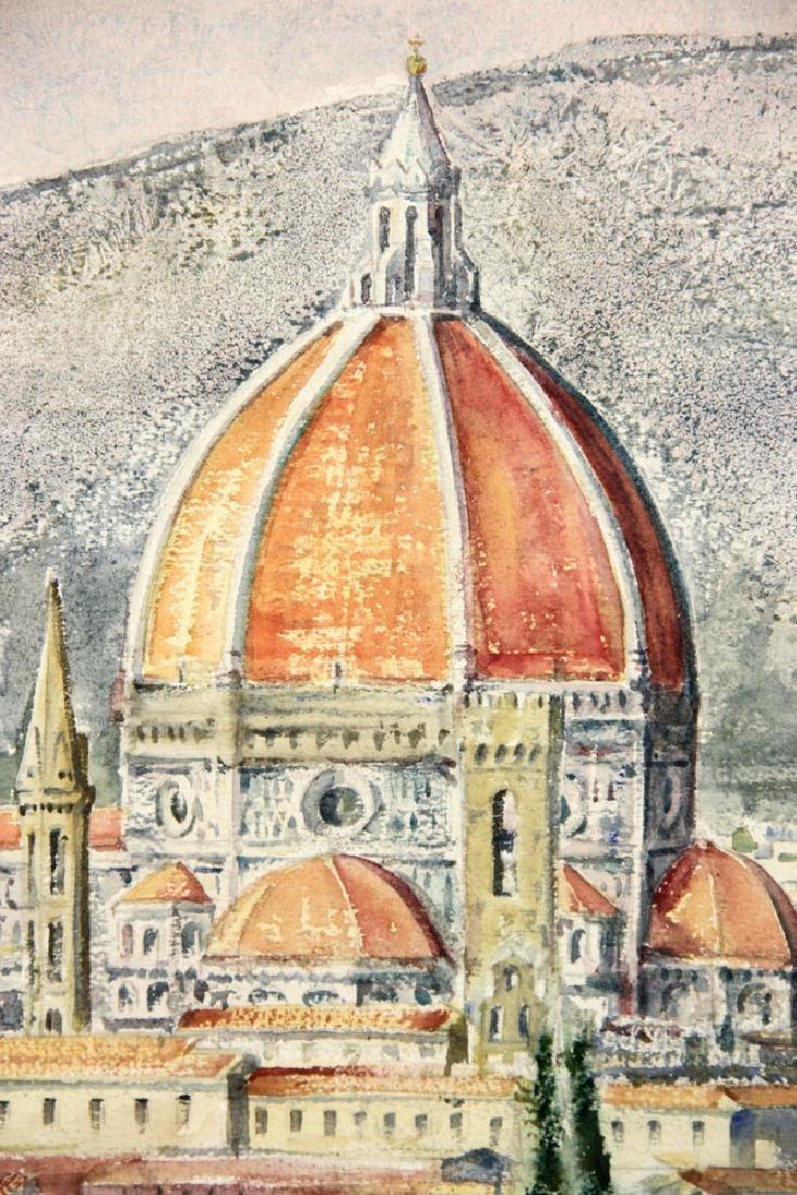 Shea, View of Il Duomo, Watercolor - 3