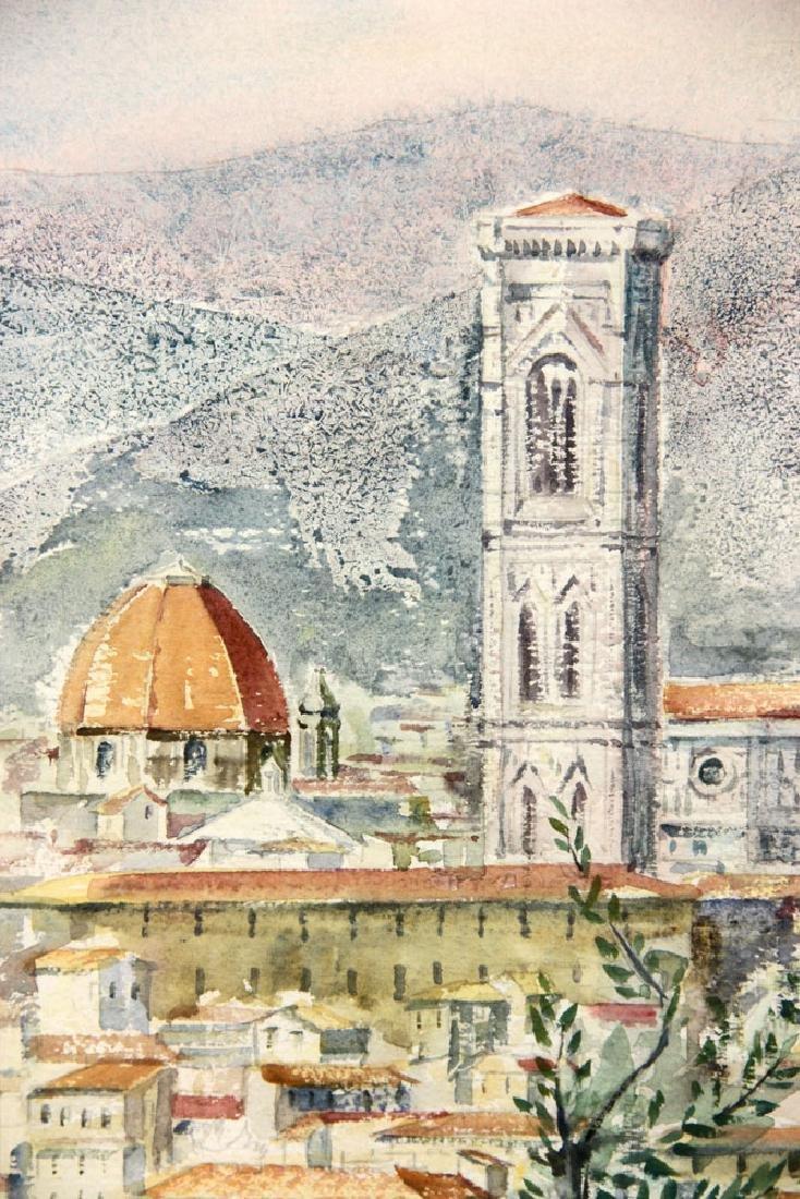 Shea, View of Il Duomo, Watercolor - 4