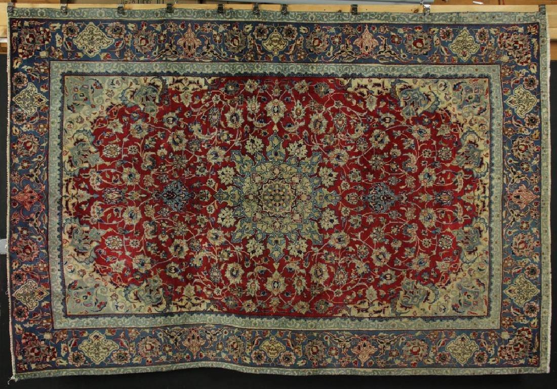 Semi Antique Persian Isfahan Carpet