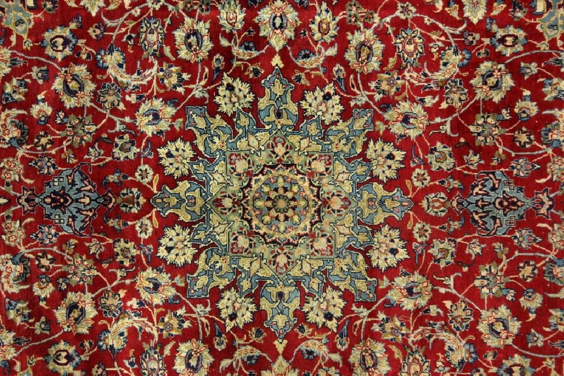 Semi Antique Persian Isfahan Carpet - 2