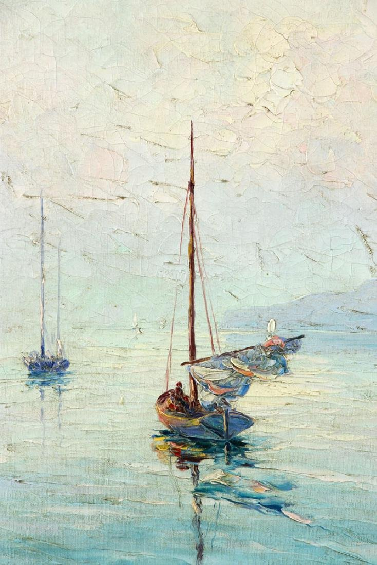 Andreell, Sailboats at Sea, Oil on Canvas - 4