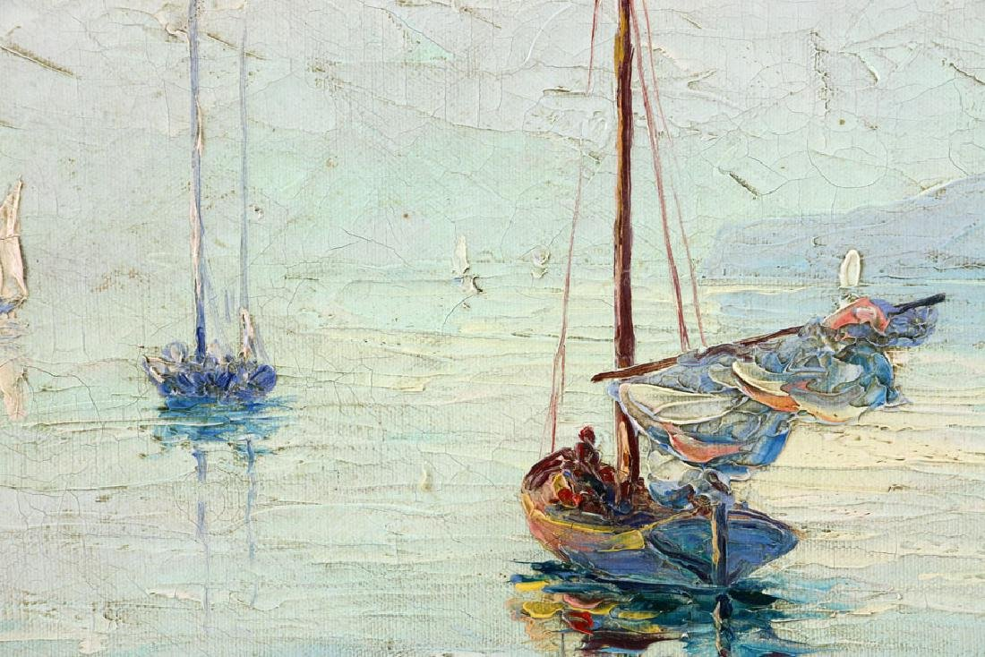 Andreell, Sailboats at Sea, Oil on Canvas - 6