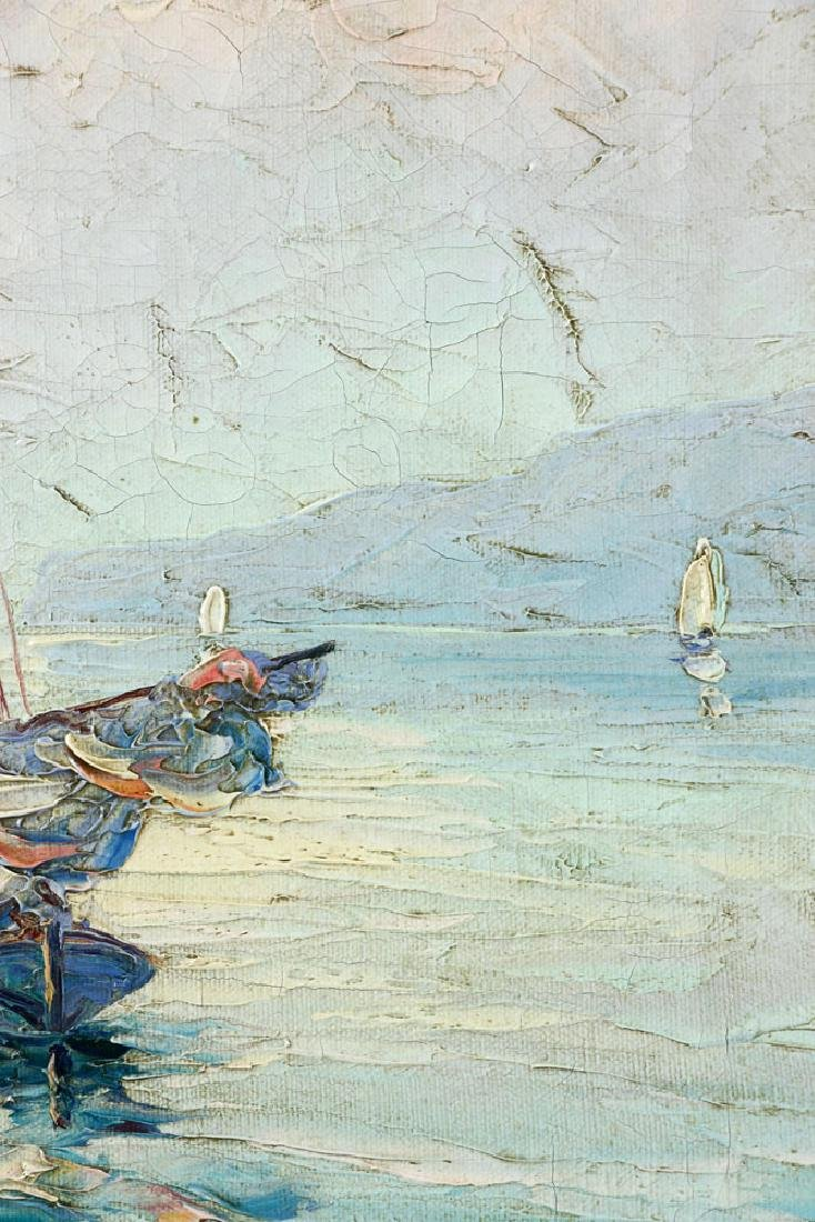 Andreell, Sailboats at Sea, Oil on Canvas - 7