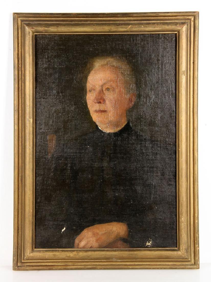 Aiken, Portrait of a Lady, Oil on Board