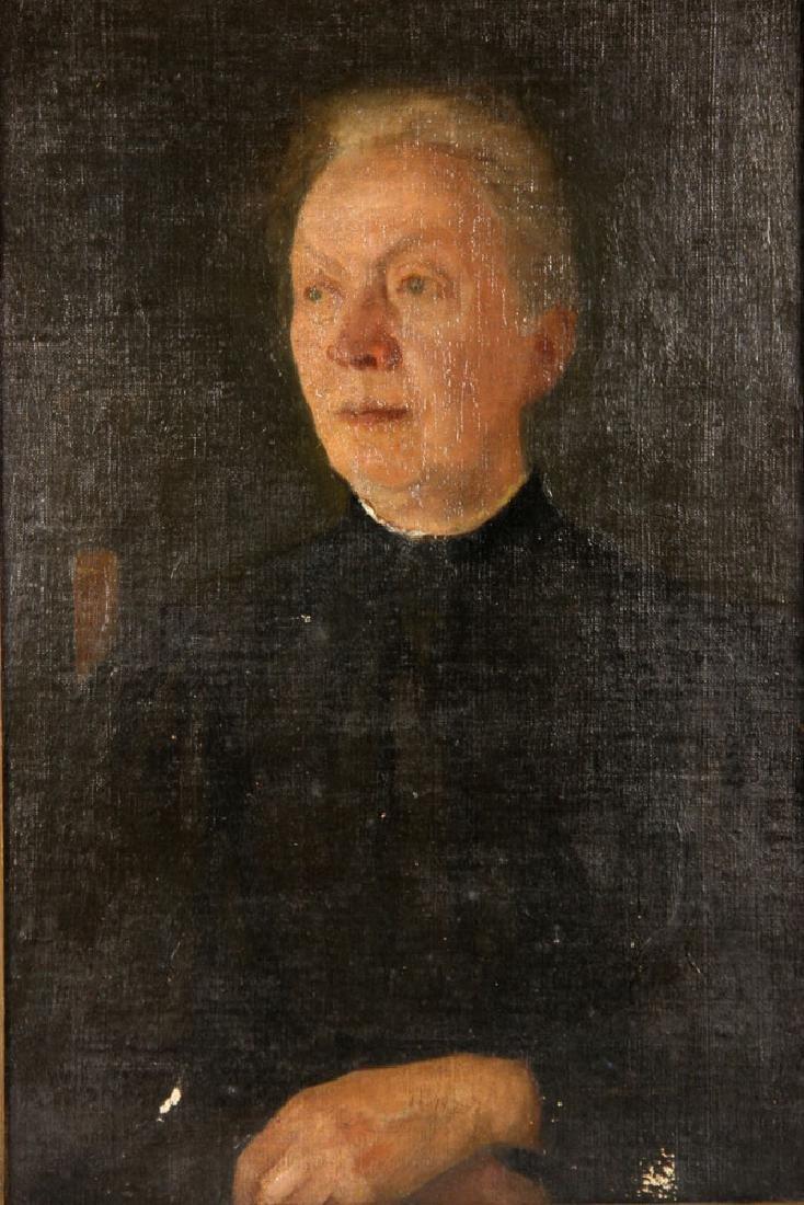 Aiken, Portrait of a Lady, Oil on Board - 2